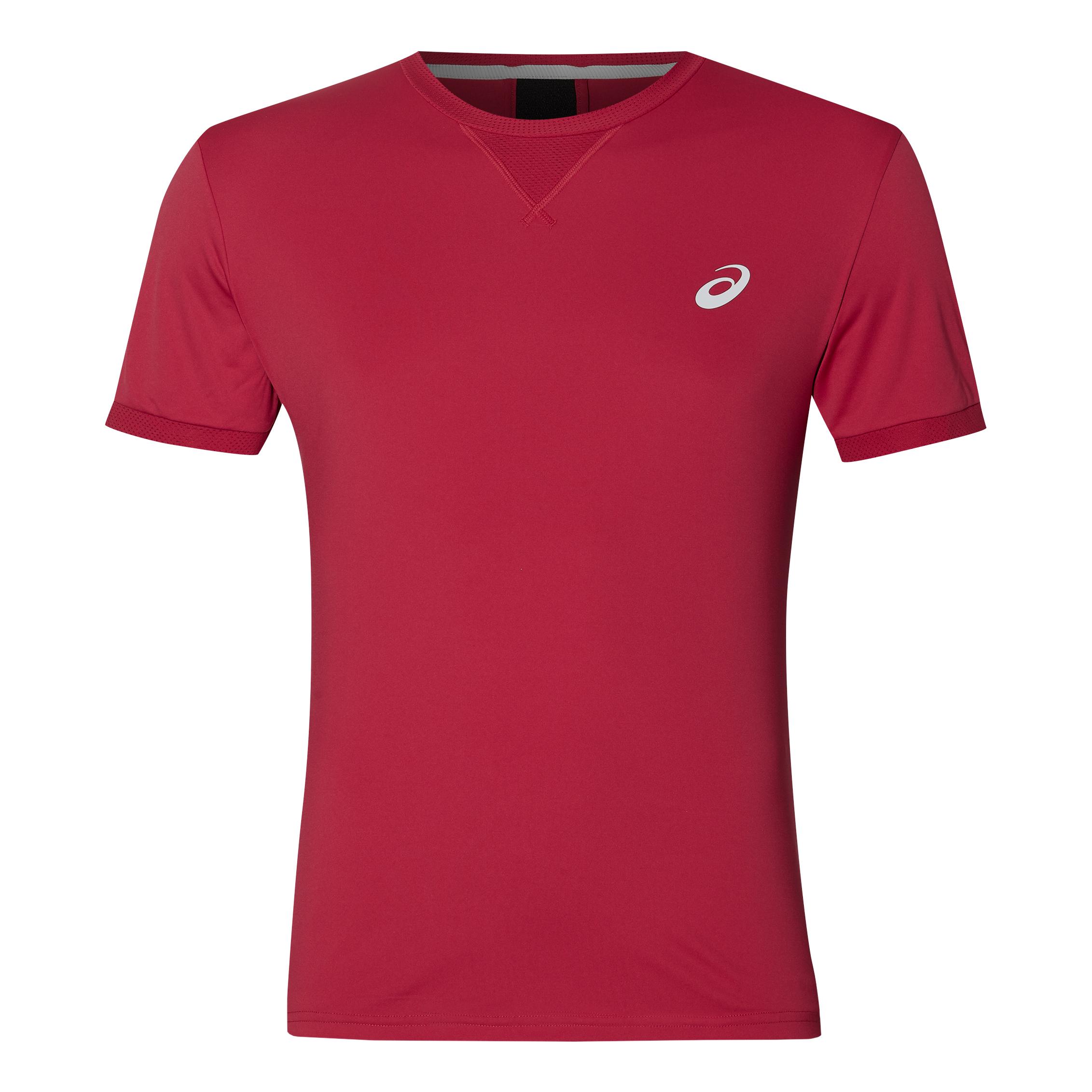 ASICS ASICS ASICS Uomo Shortsleeve Top T-Shirt Rosso Nuovo fb9a8c