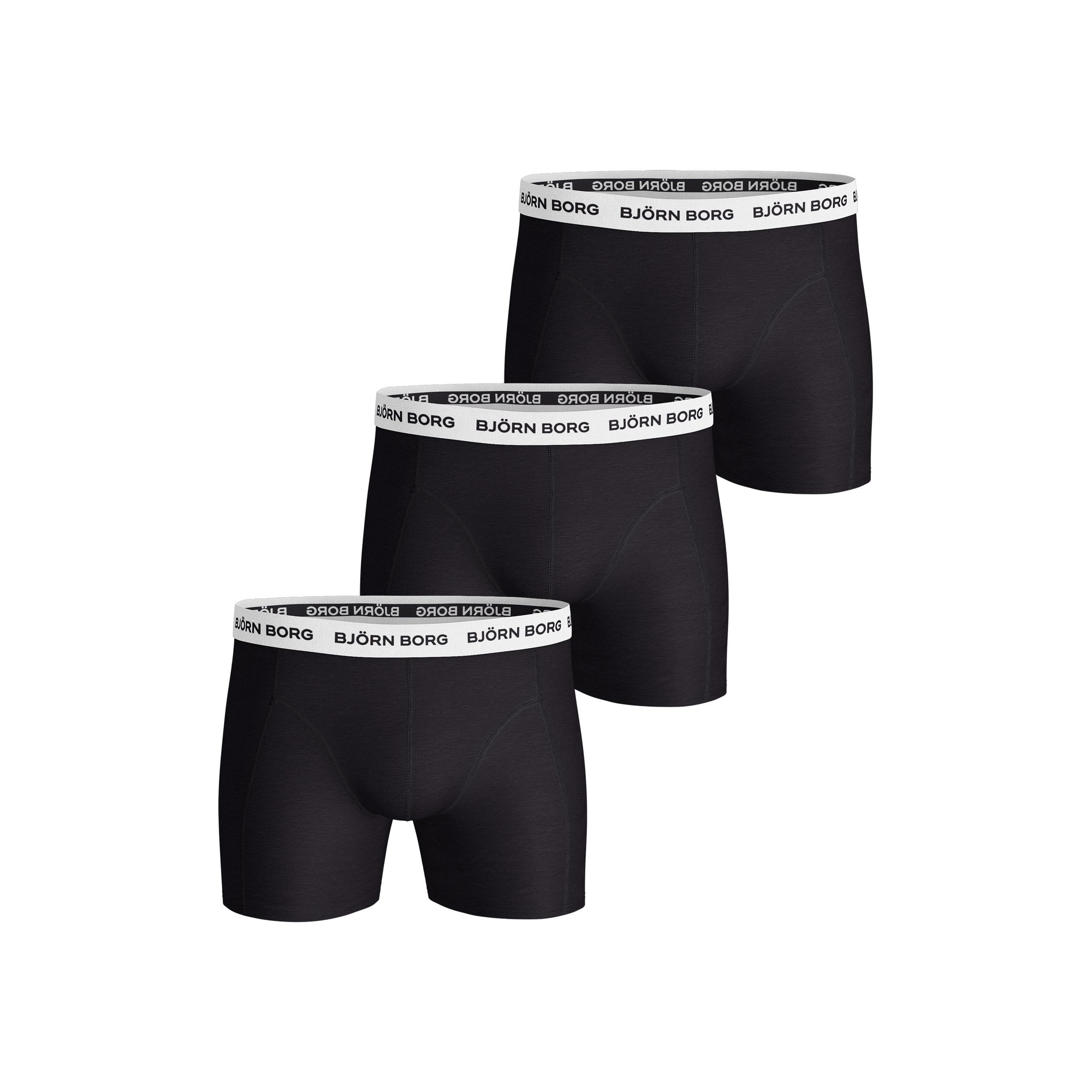 Björn Borg Herren Noos Solids Shorts  Boxer Short schwarz NEU